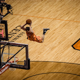 Flying Slam Dunk by Sean Stevens - Sports & Fitness Basketball ( phoenix suns, basketball, dunk, basket, court, suns, phoenix, baller )