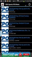 Screenshot of Fantasy Football News