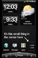 Screenshot of Data Info Widget