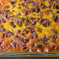 Three Bean Burger Bake