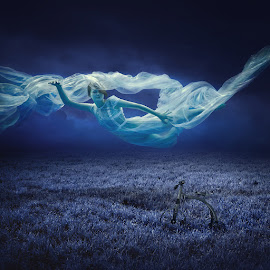 Svetlana by Dmitry Laudin - Digital Art People ( flying, girl, cloth, sleep )
