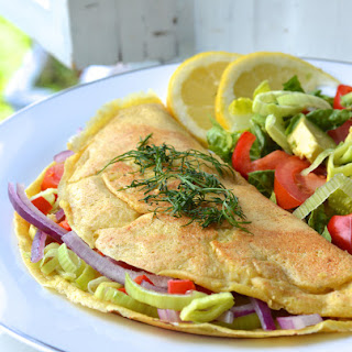 Delicious Vegan Vegetable Omelette
