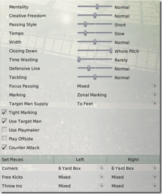 Away tactics for Football Manager 2008