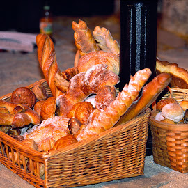 French bakery,bread. by Walter Carlson - Food & Drink Cooking & Baking ( bakery, bread, tourism, france, travel,  )