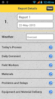 Screenshot of Daily Construction Records