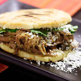 Venezuelan-style Arepas with Pulled Pork (Arepas Rumberas)