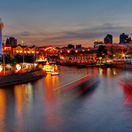 Singapore River by Ken Goh - City,  Street & Park  Night