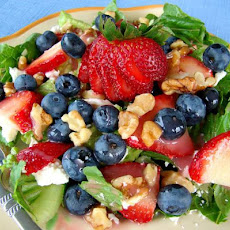Red, White, and Blue (Berry) Green Salad