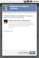 Screenshot of Friends Checker for Facebook