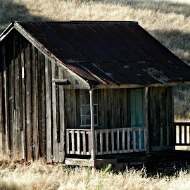 Old Pony Express Building by Tammy Morley - Buildings & Architecture Decaying & Abandoned ( preserved building, private property, pony express, historic site, old building )