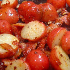New Potatoes With Bacon and Parmesan