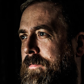Viking by Ólafur Ingi Ólafsson - People Portraits of Men ( viking, bear, face, beard, man, eye, portraid, eyes,  )