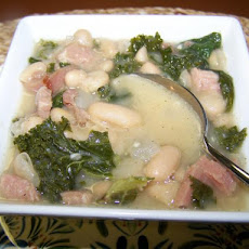 Tuscan White Bean Soup With Ham and Kale