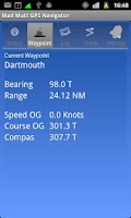 Screenshot of Mad Mutt Marine GPS Navigator