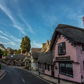 Peaceful Village  by Tavi Ionescu - Buildings & Architecture Other Exteriors ( houses, peaceful, 2014, vintage, old town, house, architecture, united kingdom, village, sunset, peace, buildings, amazing colors, isle of wight, view )