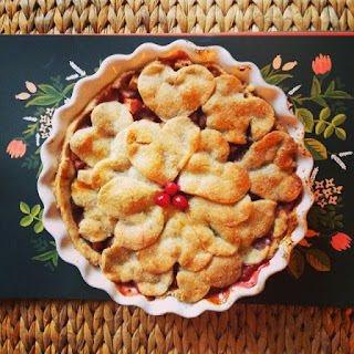 Brown Butter Vanilla Bean Cran-Apple Pie