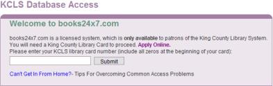 KCLS database access