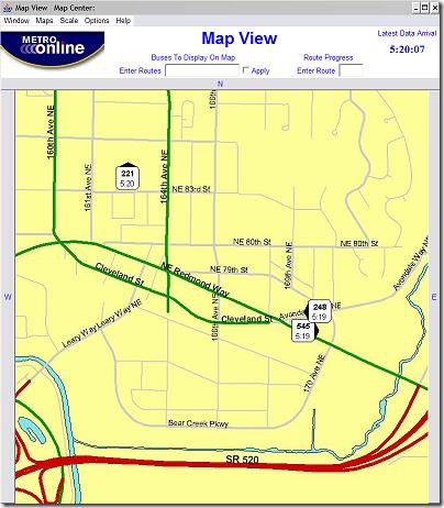 Metro Tracker Map View