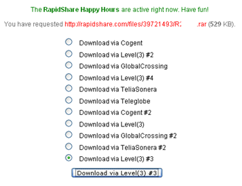 rapidshare happy hours activated