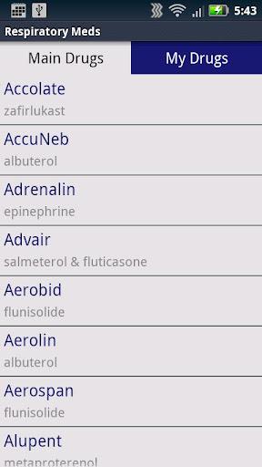 【免費醫療App】Respiratory Meds-APP點子