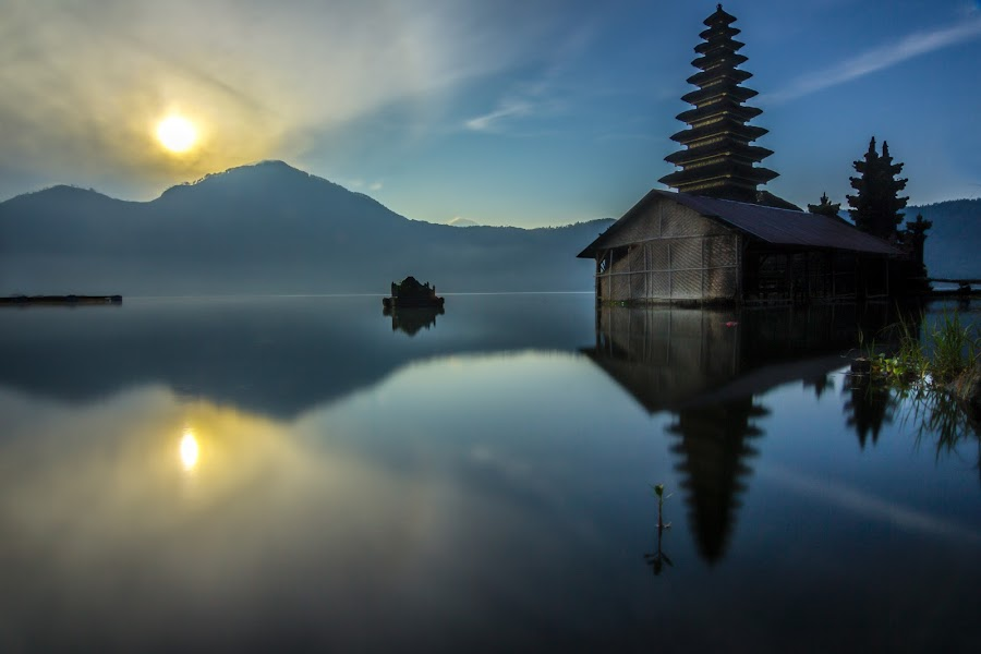 Pura (Temple) Jati, Kintamani Bali by Ade Irgha - Buildings & Architecture Other Exteriors ( temple, batur lake, kintamani, explorebali, sunrise )