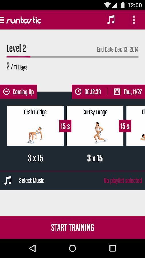 Runtastic Butt Trainer Workout Screenshot 0