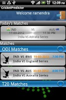 Screenshot of Cricket Predictor