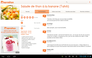 Screenshot of Marmiton Tablette : recettes