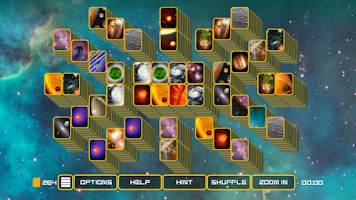 Screenshot of Mahjong Galaxy Space Lite