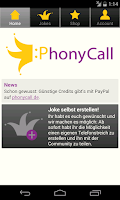 Screenshot of PhonyCall Telefonstreiche
