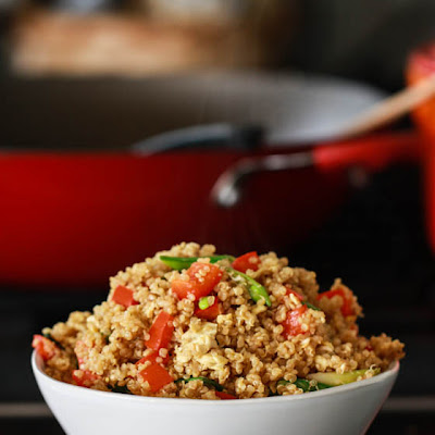 Simple Quinoa Fried Rice