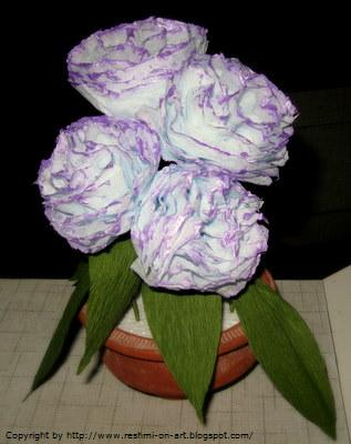 paper flowers making. Tissue Paper Flowers-The