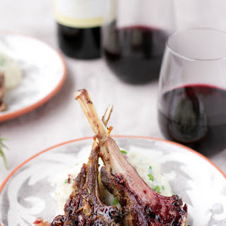 Herb Crusted Lamb Chops with Rosemary and Red Wine Reduction
