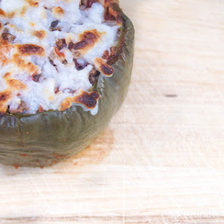 Ground Beef and Zucchini Stuffed Peppers