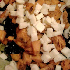 Low-cal Black & Orange Salad w/Raspberry Vinaigrette (shown pre-dressing)