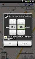 Screenshot of OsmAnd-Parking Plugin