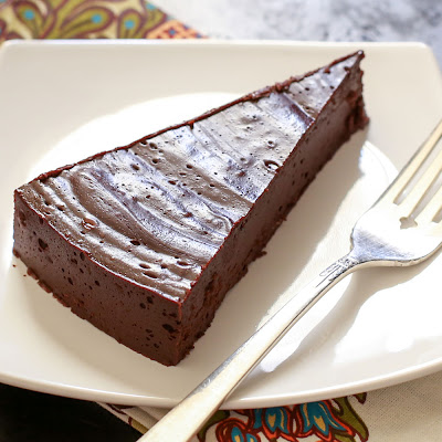 "Flourless ""Hot"" Chocolate Cake"
