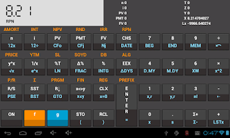Screenshot of HP12c Financial Calculator Dem
