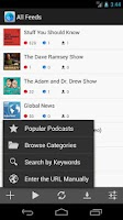 Screenshot of Cast++ Podcast Player