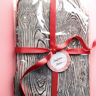 Chocolate-Almond Wood-Grain Bark