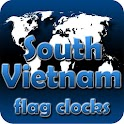 South Vietnam flag clocks icon
