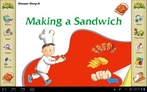 리틀잉글리시-Making a Sandwich 5세용