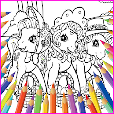 Pony Pony Friendship Coloring