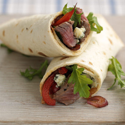 10-minute Steak & Blue Cheese Wrap