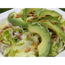 Lettuce, Avocado and Sunflower Seed Salad