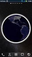 Screenshot of 3D Globe Visualization