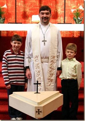 Ethan & Taylor with Pastor Kocha