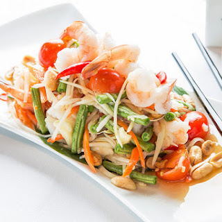 Thai Green Papaya Salad with Shrimp