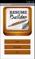 Screenshot of Resume Builder