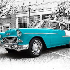 Teal Beauty by RomanDA Photography - Transportation Automobiles ( car, teal, beauty, classic )